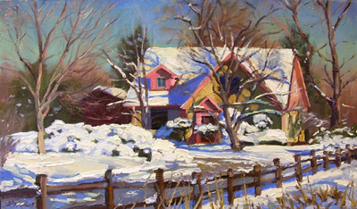 Carl Bork plein air painting