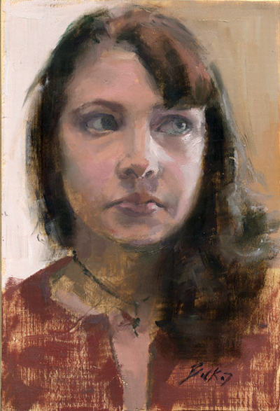 Carl Bork portrait painting