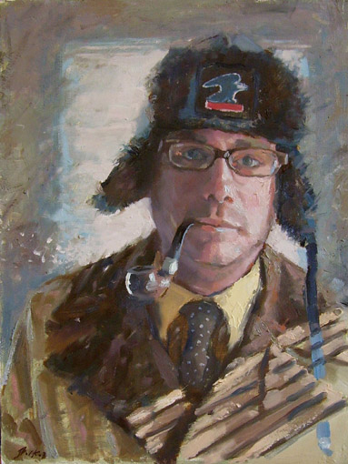 Carl Bork portrait painting