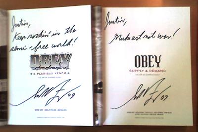 Autographed Shepard Fairey books