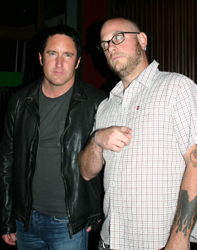 Trent Reznor and Justin Shady at Malo