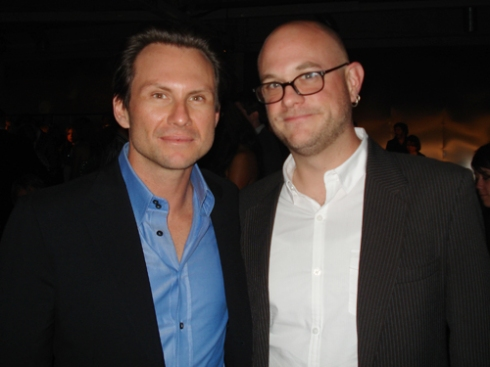 "Christian Slater and Justin Shady at the ""Star Trek"" Premiere after-party"