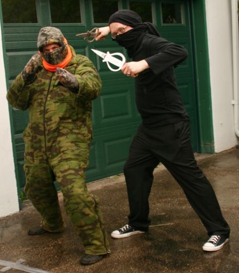 Shady and Dwellephant... as ninjas!