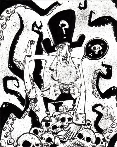 """Sketchbook: """"Dead Men Tell No Tales"""" by Bill Hewitt"""