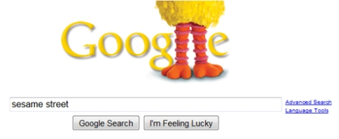 """Sesame Street"" on Google"
