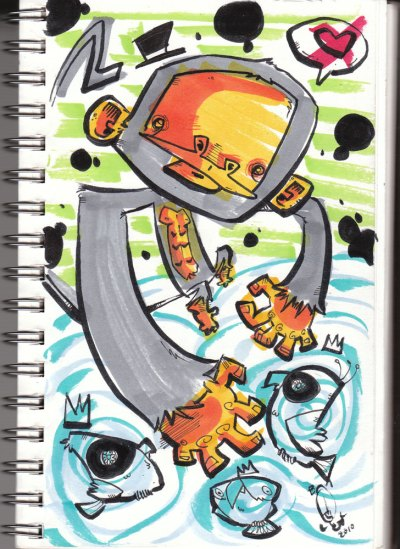 """Sketchbook: """"Fool"""" by Bill Hewitt"""
