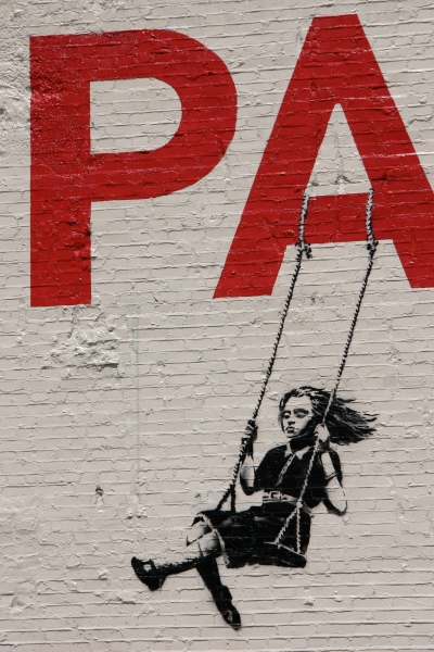 Banksy in downtown Los Angeles