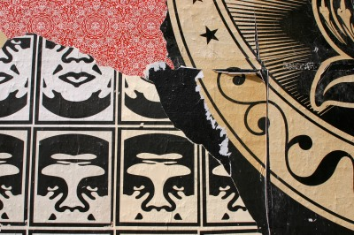 Shepard Fairey on Melrose Avenue in Los Angeles