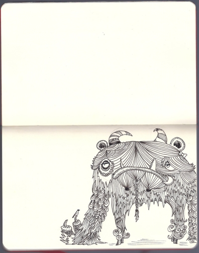 "Sketchbook: ""Monster"" by Marla Campbell"