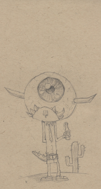 "Sketchbook: ""Monster"" by Josh Peters"