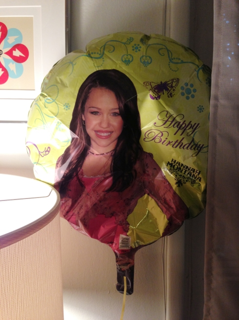 My 36th birthday Hannah Montana balloon. Yep. 36.
