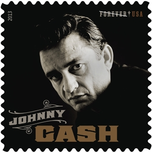Johnny Cash stamp from the USPS