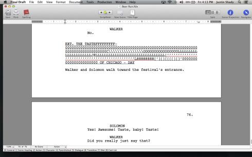 Heisenberg's script masterpiece.
