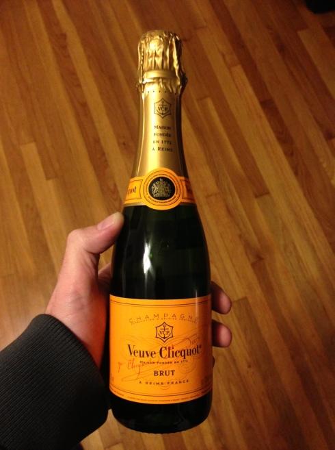 Liquor of the Month: January = Veuve Clicquot!