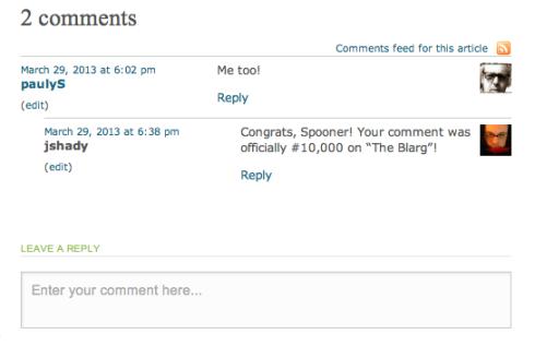 Paul Spooner: Super Commenter