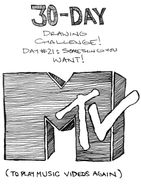 "30-Day Drawing Challenge: Day 21 (""Something You Want"")"