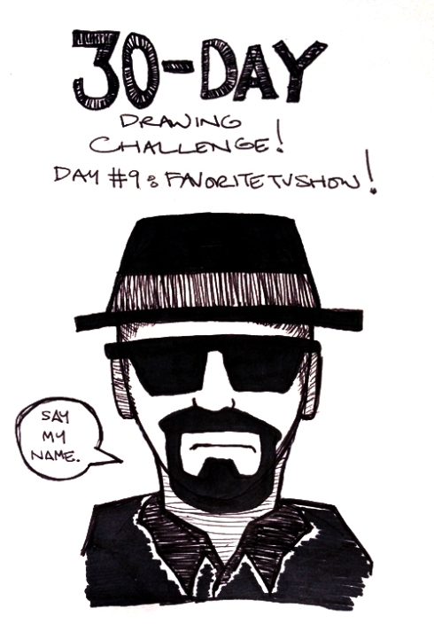 "30-Day Drawing Challenge: Day 9 (""Favorite Television Show"")"