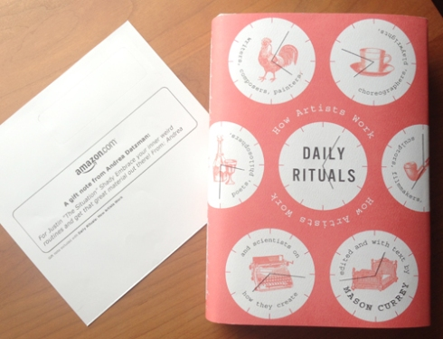 "Mason Currey's ""Daily Rituals: How Artists Work."""