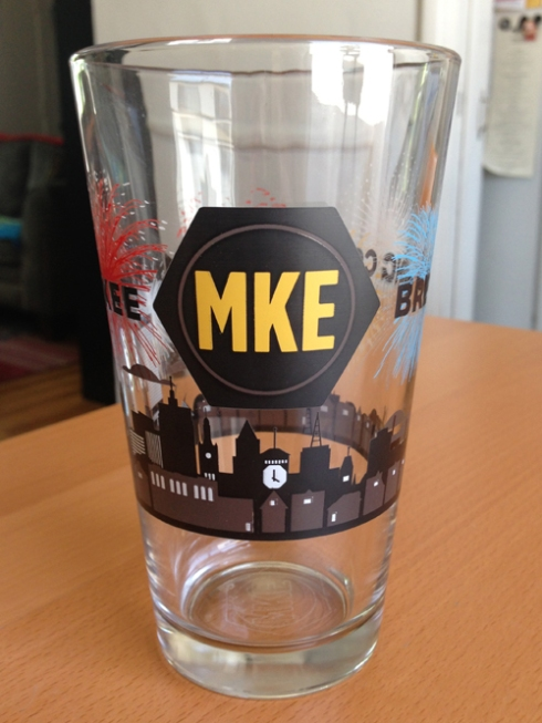 Another Milwaukee Brewing Co. pint glass from Tiggins!