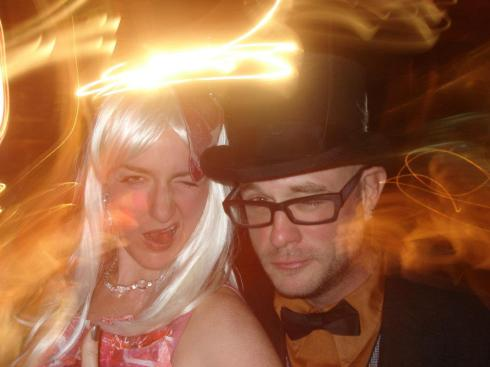 Jamie as Lady Gaga and me as a... husband.