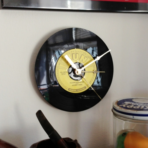"Johnny Cash's ""Folsom Prison Blues"" clock from Ron Monster!"