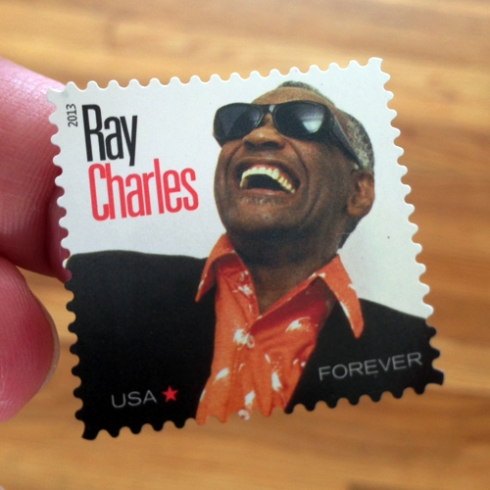 Ray Charles! On a stamp!