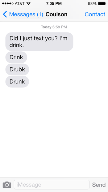 Drink. Drink. Drubk.