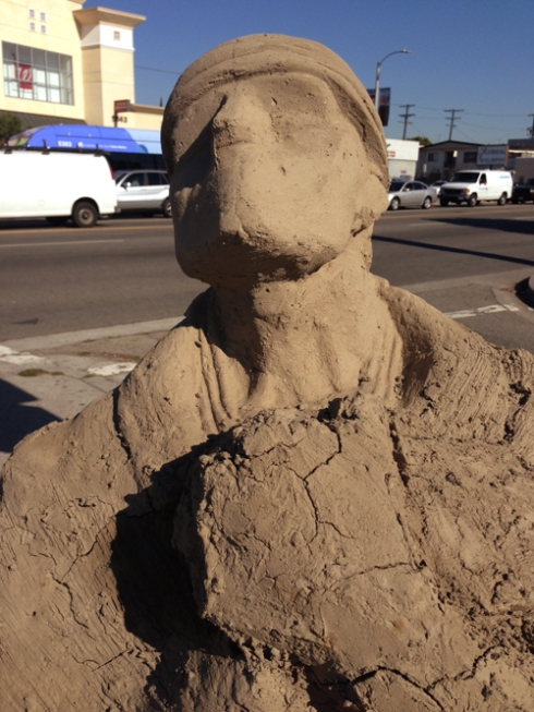 Clay Man on the corner of Pico and Fairfax.