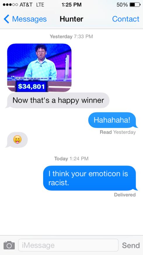 Racist emoticons!