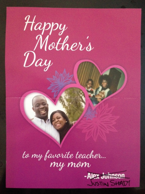"""My """"real"""" Mother's Day card..."""