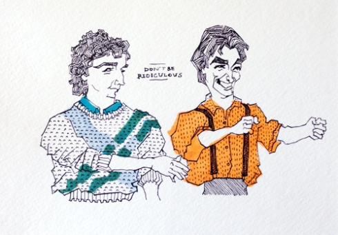 Cousin Larry and Balki forever immortalized by Marla Campbell!