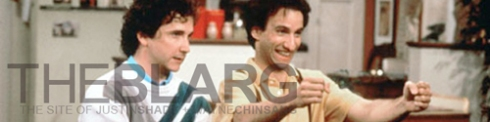 "Cousin Larry and Balki forever immortalized on ""The Blarg."""