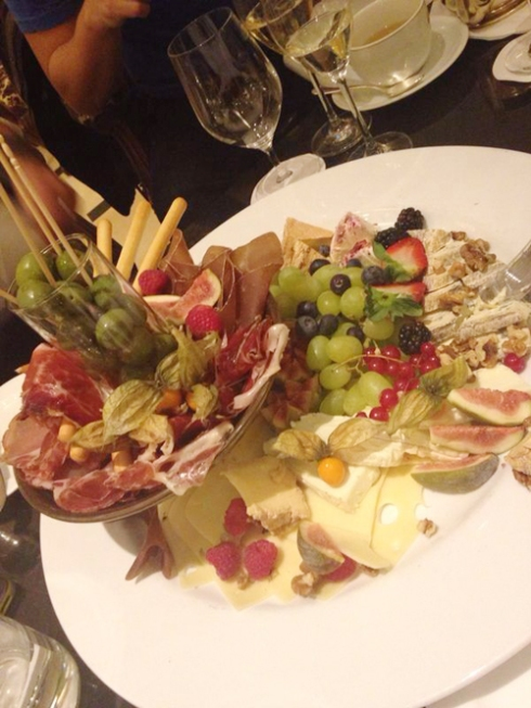 $500 meat, fruit, and cheese plate... that was good, but not THAT good.