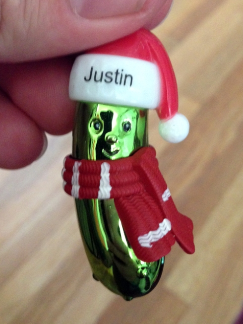 Personalized Justin Pickle!