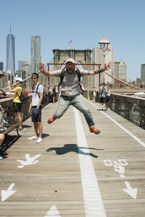The Brooklyn Bridge! With me!