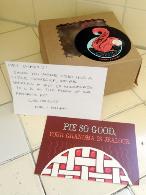 PieGram from Dori and Milan! (And Honeypie.)