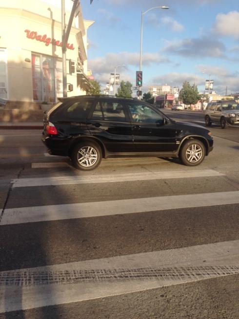 It's a crosswalk! Not a parking spot for assholes!