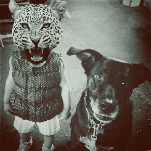 Anya as a leopard!