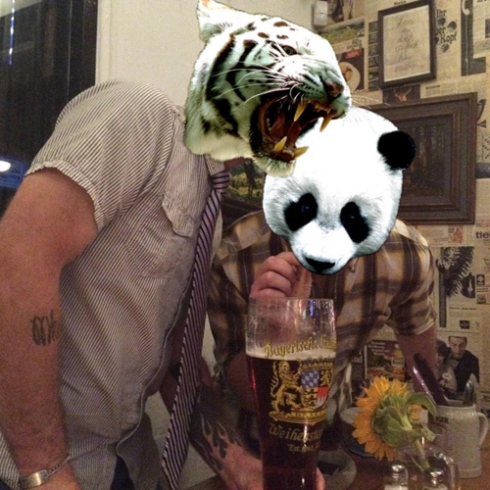 Stop drinking my beer, Panda!