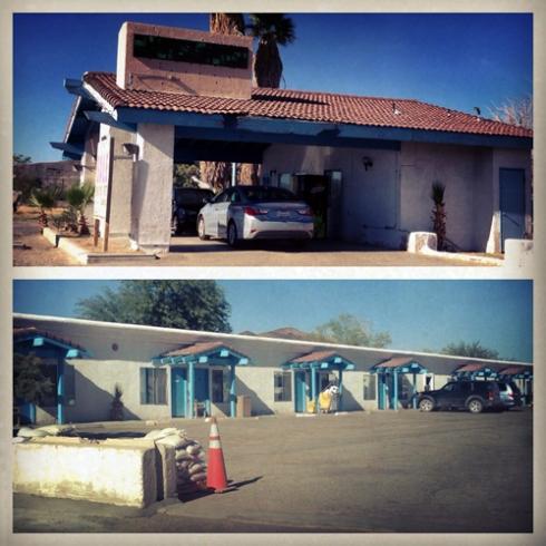 Wills Fargo Motel in Baker, California.