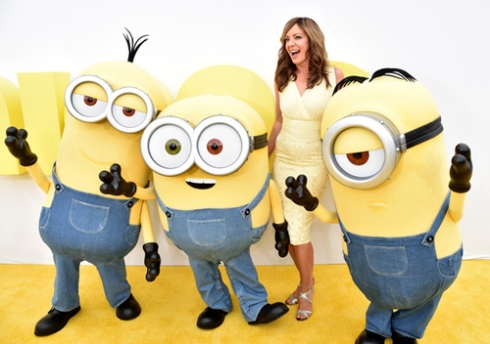 Allison Janney and some little yellow men.