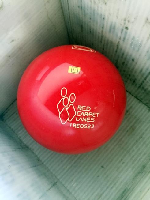 Bon voyage, bowling ball!