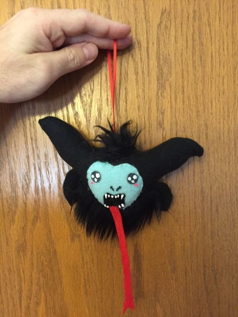 Tranifer Lovely's Wonky Critters Krampus Christmas ornament!
