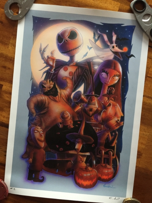 """The Nightmare Before Christmas"" print from Jason ""McFly"" Kincaid."