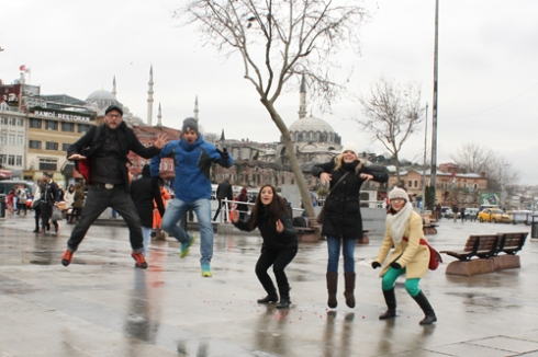 Our first attempt at an Istanbul jump!