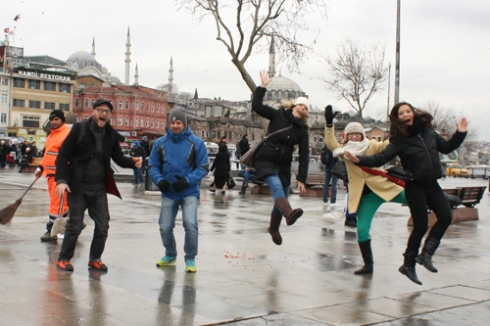 Our second attempt at an Istanbul jump!