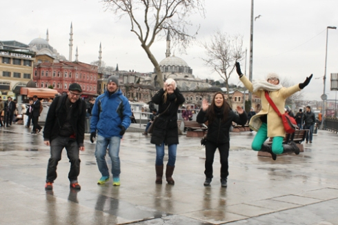 Our fourth attempt at an Istanbul jump!