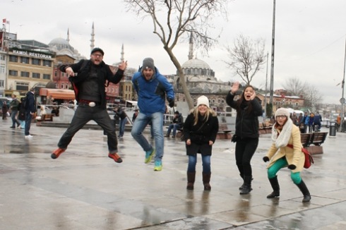 Our seventh attempt at an Istanbul jump!