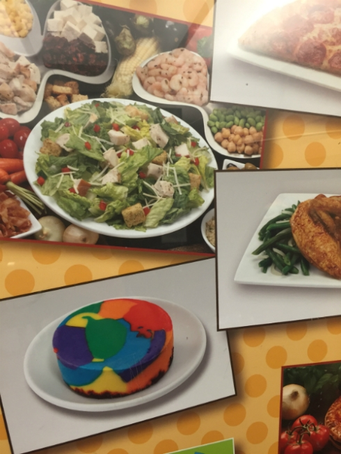 What to eat, what to eat? Salad or... that hockey puck of Rainbow Brite's vomit?