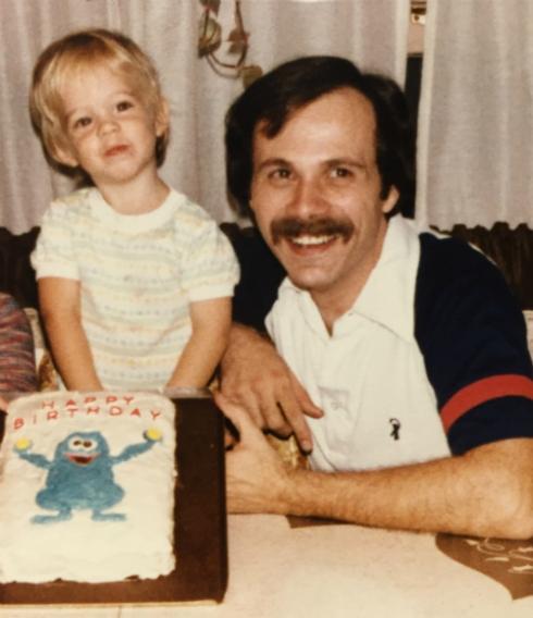 Birfday cake! With Herry Monster!
